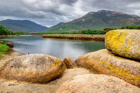 wilsons promontory: Tidal River in Wilsons Promontory National Park, Victoria, Australia