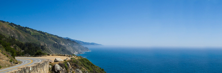 coastlines: Panorama of the Pacific Coast Highway which is a spectacular coastal drive between Los Angeles and San Francisco