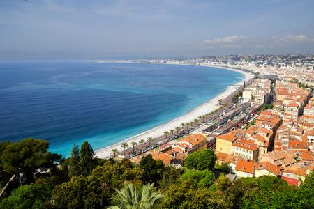 coastline: The coastline of Nice in southern Fance