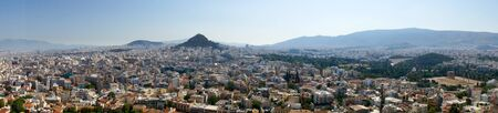 Panoramic image of the city of Athens in Greece Stock Photo