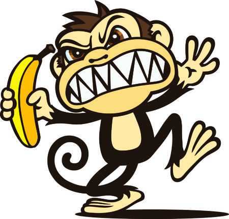 Angry Monkey Stock Vector - 23511632