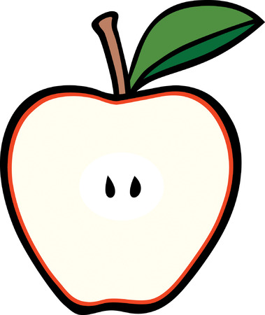Apple Cross Section Vector