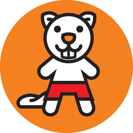character traits: Mr Beaver Illustration