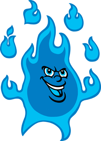 blue flame: Mr Blue Flame