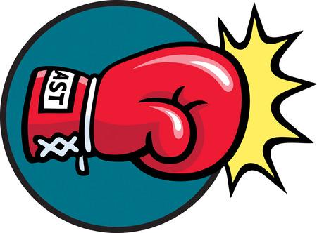 Boxing Punch Ilustracja