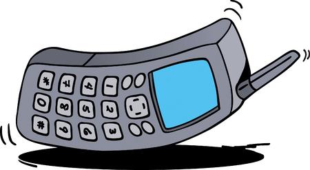 ringing phone: Ringing Phone Illustration