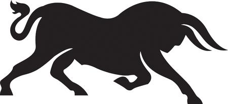 Wild Bull Illustration