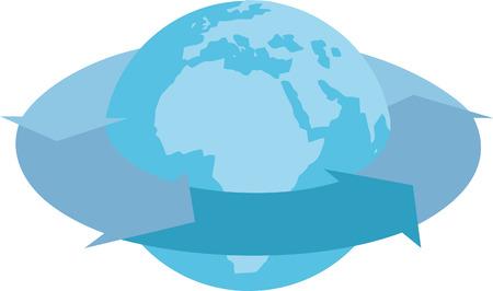 Rotate World Illustration