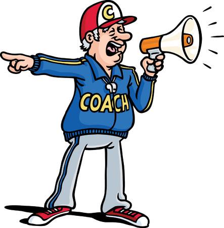 character traits: Coach Illustration
