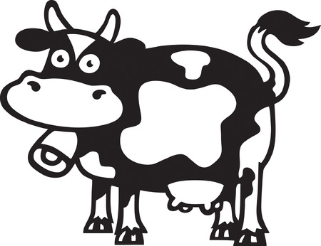 cow bells: Silly Cow Illustration