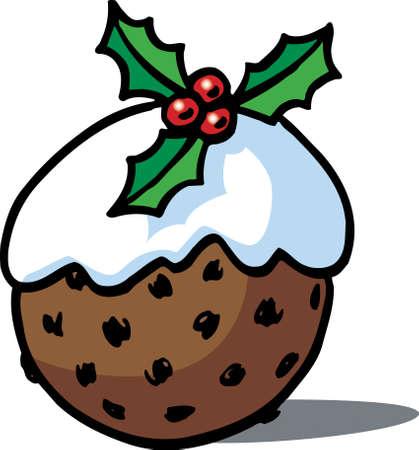 Christmas Pudding Stock Vector - 24070541