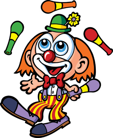 clown face: Juggling Clown