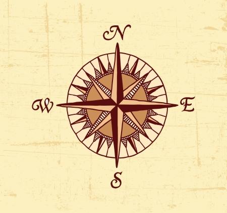 brujula antigua: Br�jula Mapa Vectores