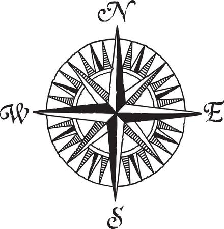 woodcut: Compass