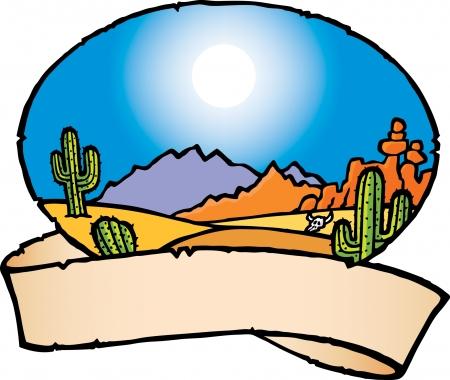 rolling landscape: Desert Illustration
