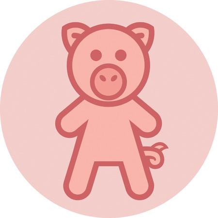 mr: Mr Pig Illustration