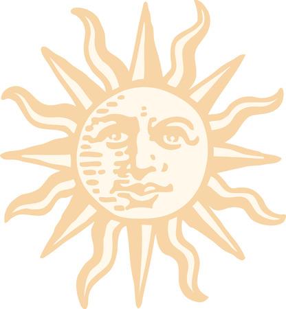 god icon: Sun Illustration