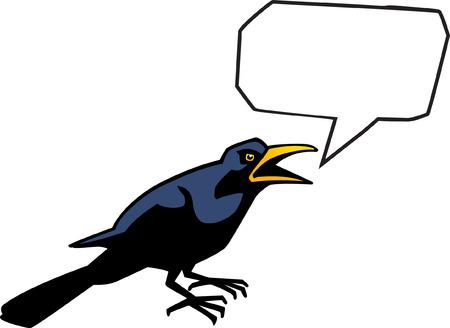 Talking Crow Vector