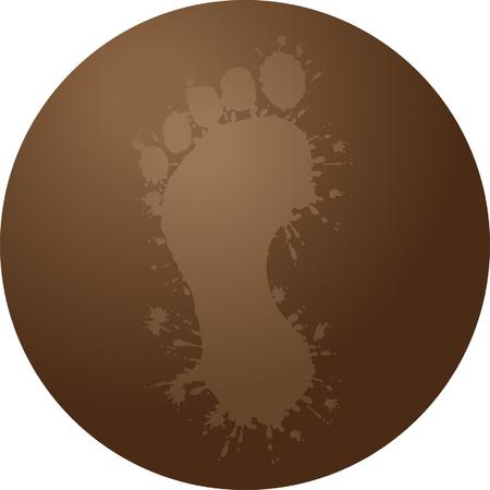dirty feet: Dirty Foot Illustration