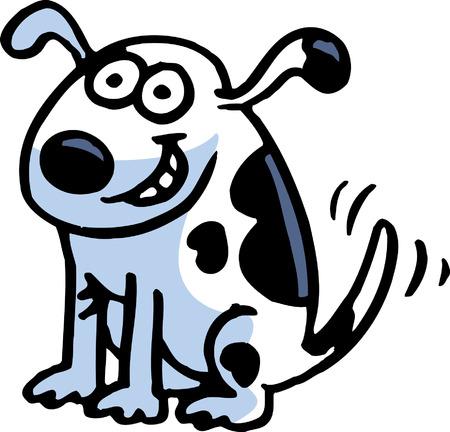 lap dog: Happy Dog Vettoriali