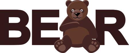 Bear Word Stock Vector - 24304434