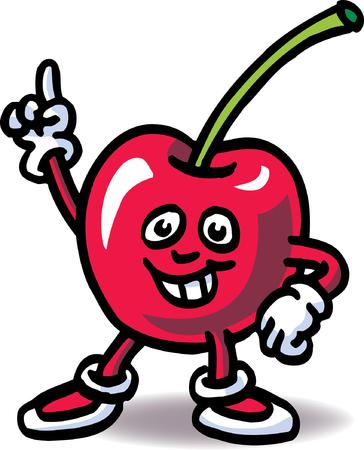 mr: Mr Cherry Illustration