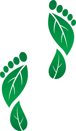 Carbon Footprints Vector