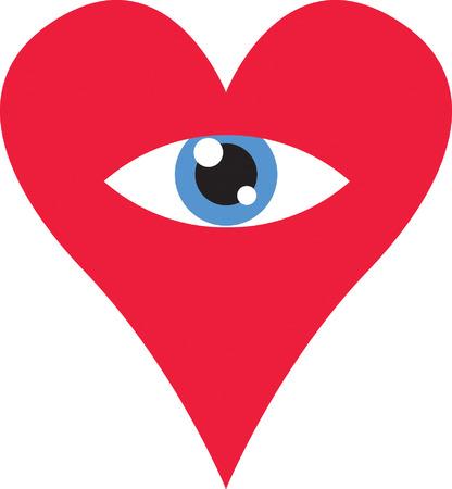 religious service: Eye Heart Illustration