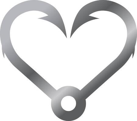 Hook Heart Vector
