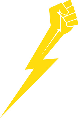 雷の拳  イラスト・ベクター素材