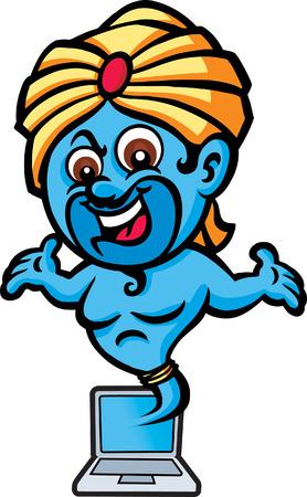 character traits: Genie Laptop