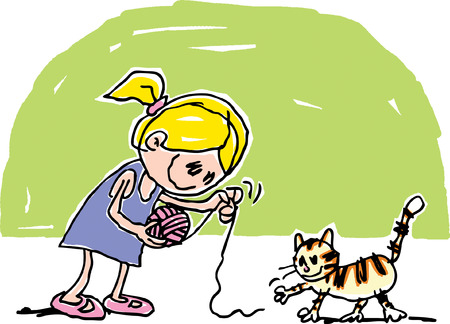 cat toy: Playful Cat Drawing