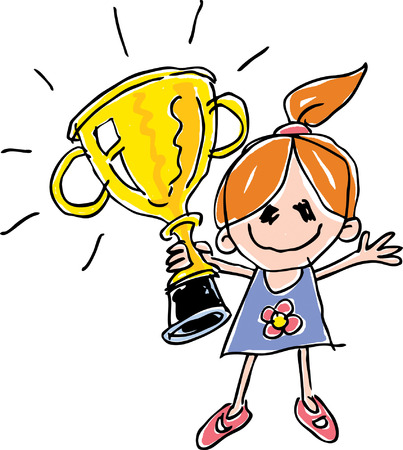 Child s Trophy Drawing Vector