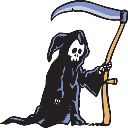 Grim Reaper Stock Vector - 24305435
