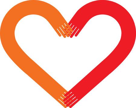 Heart Hands Vector