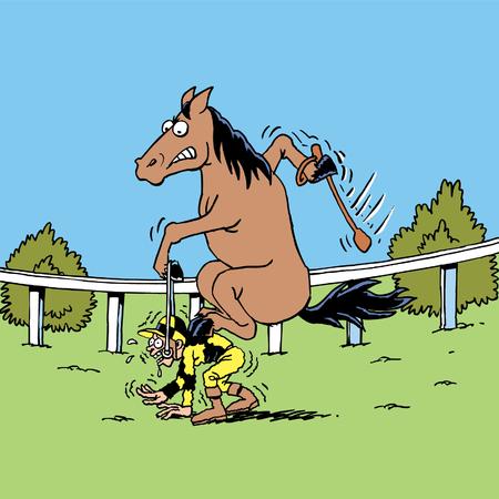 Jockey und Pferd Standard-Bild - 24305914