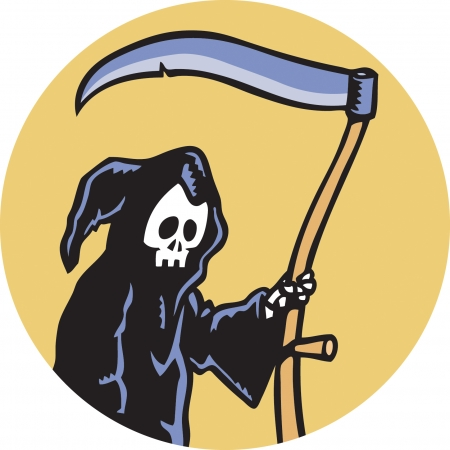 Grim Reaper Stock Vector - 24305915