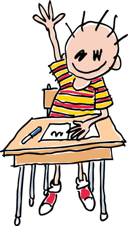Child School Drawing Vector