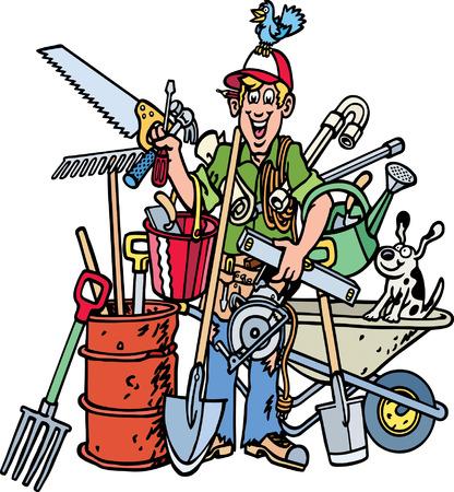 outils construction: Constructeur Illustration