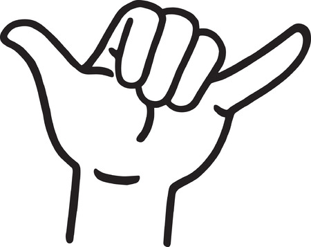 Hang Loose Hand Signal