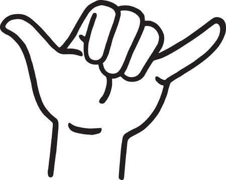 hang loose: Hang Loose Hand Signal