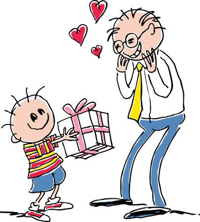 cartoons designs: Bambino dando presenti