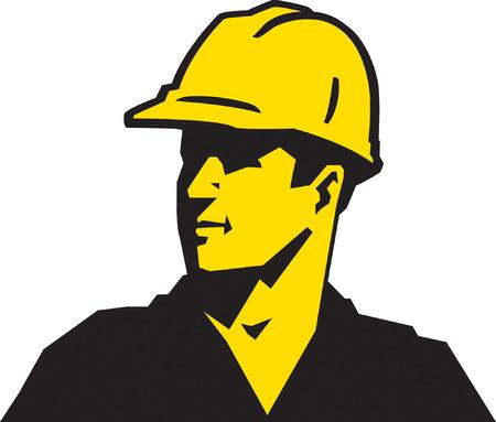 building contractor cartoon: Construction Guy Illustration