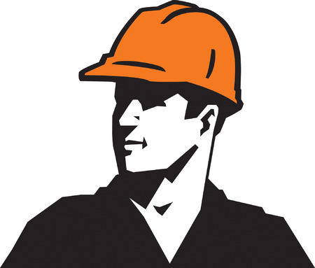 contractor: Construction Guy Illustration