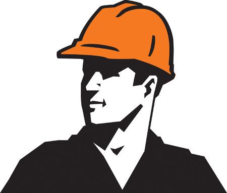 manual worker: Construction Guy Illustration