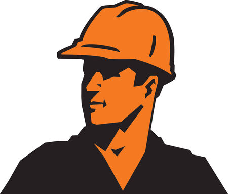 construction worker cartoon: Construction Guy Illustration