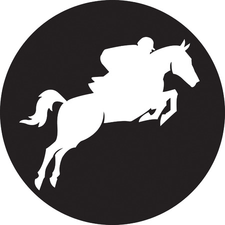 round: Horse Illustration