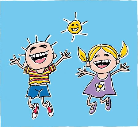 child s: Child s Jumping Drawing