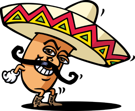 chapeau blanc: Bean mexicaine