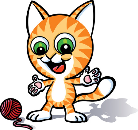 Playful Cat Vector